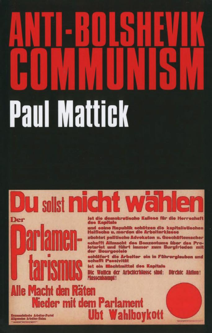 Anti-Bolshevik Communism by Paul Mattick
